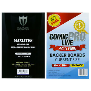 Premium Archival Quality Comic Bags and Heavy Duty Backing Boards -- CURRENT