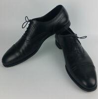 Crockett and Jones Barrington 2 Semi Brogue Black Leather Oxford Shoes UK 12 E