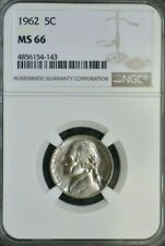 1962 S - JEFFERSON NICKEL - NGC MS66 - GEM UNCIRCULATED