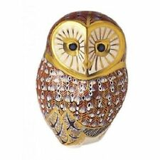 New Royal Crown Derby 1st Quality Barn Owl Paperweight
