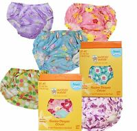 3 Assorted Girl's Washable Swim Diaper Cover Covers UPF 50+ Size 3T-4T 31-44 lbs