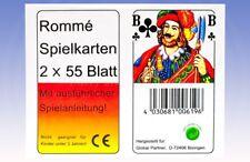 Rommé Spielkarten 2 x 55 Blatt