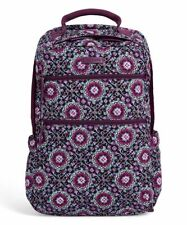 Vera Bradley Quilted Campus Tech Lilac Medallion Backpack