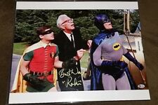 "ADAM WEST ""BATMAN"" & BURT WARD ""ROBIN"" AUTOGRAPHED 16X20 COLOR PHOTO BAS COA"
