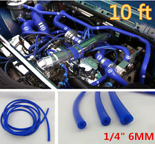 "10 Feet Blue Silicone Vacuum Air Hose 6MM/1/4"" BLUE SILICONE FUEL LINE PIPE TUBE"