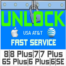 RAPID SPEED FACTORY UNLOCK CODE SERVICE AT&T ATT IPHONE 8 7 6 6S PLUS SE 5S X 11