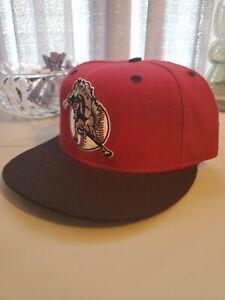 San Bernardino Stampede 7 1/4 1996-99 Vintage New Era Hat Cap NWOT MiLB Red VTG