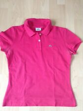 Lacoste Damen-Poloshirt pink, Größe 42 Original