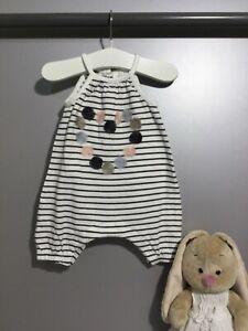 Next Spieler Strampler Jumpsuit Einteiler Overall Baby Mädchen Gr 50/56 0-1 M