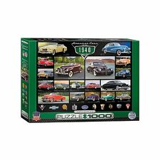 Classic American Cars of the 1940's Jigsaw Puzzle - 1000 pc.