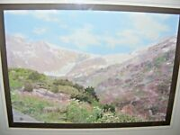 VINTAGE OIL PAINTING MULTI MEDIA ALPINE SCENE BY DAVID BEXLEY GLOUCESTER ARTIST