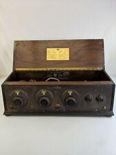 Vintage Splitdorf Model R-V-500 antique radio wooden