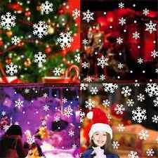 14PCS XMAS White Snow Snowflake Frozen Decal Window Wall Sticker Christmas Decor
