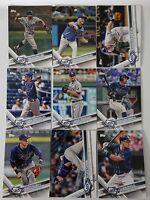 2017 Topps Series 2 Tampa Bay Rays Team Set of 9 Baseball Cards