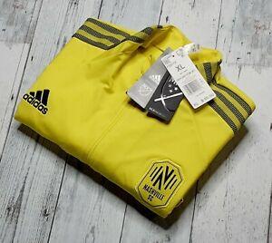 NEW MLS Nashville SC Adidas 2020-21 Soccer Full-Zip Jacket Men's XL Stretch NWT