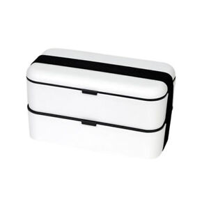 Adults Kids Bento Box Containers Double Stackable Fruit Box Sushi Lunch Box TR