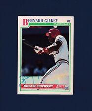Bernard Gilkey signed St. Louis Cardinals 1991 Score Rookie Prospects BB card