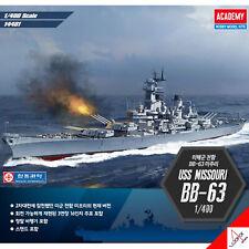 Academy 1/400 USS MISSOURI BB-63 US Battle Ship Plastic Hobby Model kit  #14401