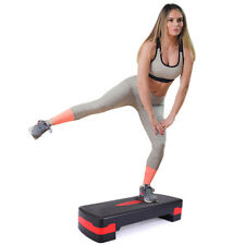 "26.8'' Fitness Aerobic Step Adjust 4""-6"" Exercise Stepper w/ Risers Home Gym"