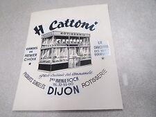JEAN LALEURE JILA J.L. DE DIJON projet dessin original H CATTONI boucherie charc