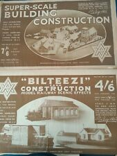More details for bilteezi vintage cardboard railway construction sheets 00 guage railway