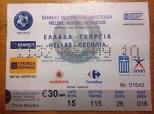Grecia vs Georgia 03/09/2010 billete de fútbol Euro 2012 calificador Hellas 1-1 sorteo