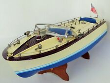 Union Craft Ito Type Japan Speed Boat Battery Motor Powered Rare Wooden Toy