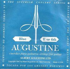 Augustine Corde à l'unité Blue E or 6th Guitare Classique Tirant Fort