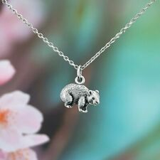 Australian Gift Souvenir Wombat Necklace with Stainless Steel Chain