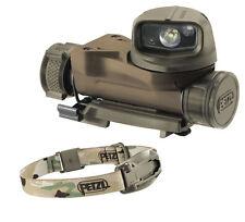 Petzl STRIX VL Tactical Military Head Torch MOLLE Flashlight Helmet Light Camo