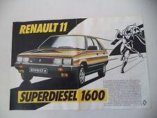 advertising Pubblicità 1984 RENAULT 11 TDE