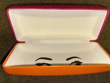 """Kate Spade """"Eyes"""" Orange Pink Hard Shell Eyewear Spectacle Case - Free Shipping!"""