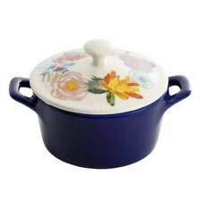 The Pioneer Woman Mini Casserole Dish Blue Floral Celia Stoneware 8.7oz