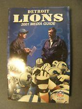 2001 Detroit Lions Media Guide