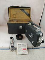 VTG CINE-KODAK EIGHT Model 60 8mm MOVIE CAMERA w/ Leather Case & Telephoto (G1)