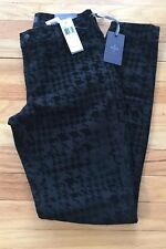 Not Your Daughters Jeans Women Pant Black Flocking Print Super Skinny Size 2 NEW