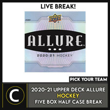 2020-21 UPPER DECK ALLURE 5 BOX (HALF CASE) BREAK #H1118 - PICK YOUR TEAM