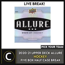 2020-21 Upper Deck очарование 5 коробка (половина чехол) перерыв #H1210 — выбирайте свою команду -