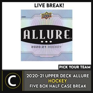 2020-21 UPPER DECK ALLURE 5 BOX (HALF CASE) BREAK #H1041 - PICK YOUR TEAM