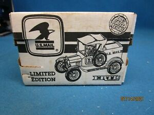 Ertl United States Mail 1918 Ford Runabout Coin Bank 1/25 Scale in Original Box