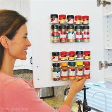 Sets Shop Kitchen Clip Spice Gripper Jar Rack Storage Cabinet Holder-Wall D T1A8
