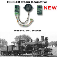Heisler steam locomotive SoundGT2.1 DCC decoder for Bachmann, Rivarossi, brass