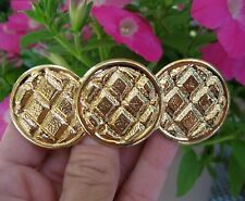 Vintage New Gold Lightweight Metal Hair Barrette French Clip Retro 1980's Nos