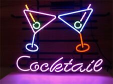 Cocktail Martini Wine NEON LIGHT SIGN Display STORE BEER BAR CLUB Signage Light