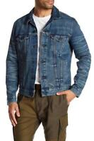 Levis Jacket Men's Premium Button Up Distressed Denim Trucker Jean #0264