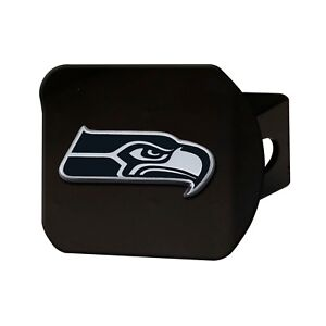 Fanmats NFL Seattle Seahawks 3D Chrome on Black Metal Hitch Cover Del. 2-4 Days