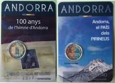 Andorra 2 x 2 Euro Gedenkmünzen 2017 Hymne + Pyrenäen CoinCard commemorative