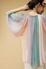NWT Antik Batik Cleo Blouse Size L chiffon pastel multi-color Anthropologie $218