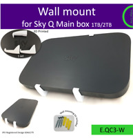 Sky Q Main box 1TB/2TB wall mounting bracket holder. White. Made in the UK by us