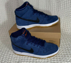 Nike Dunk SB High Orange Label Midnight Navy - Size UK 11 / US 12 - Brand New